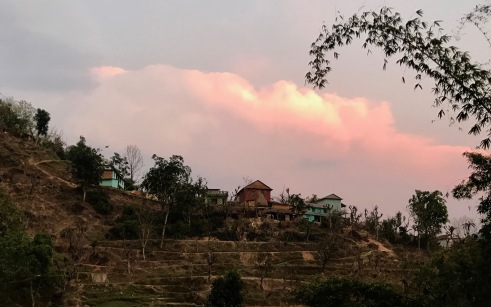The Chhetri village on the opposite ridge