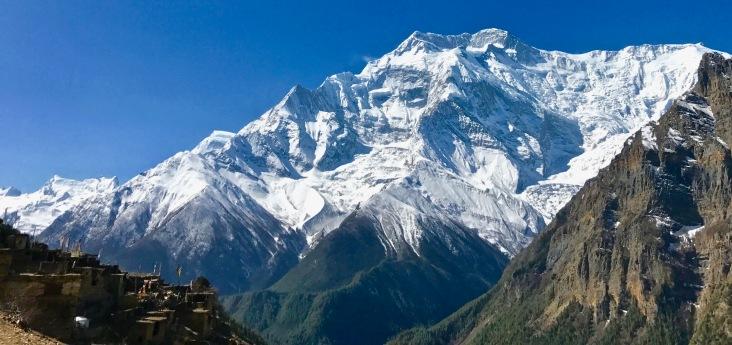 Annapurna II and Ghyaru village