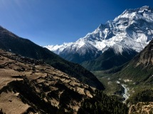 Marsayangdi valley with Ghyaru and Annapurna II