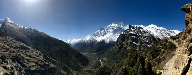 Panorama from traverse to Ngawal